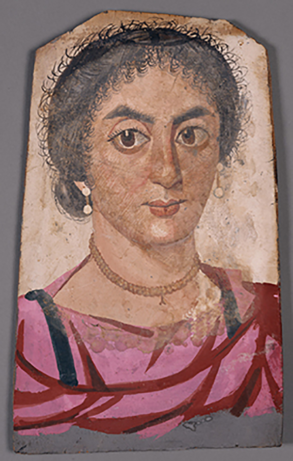 01107701 Mummy Portrait of a Young Woman, Romano-Egyptian, c. 170-200 AD, Tempera on wood