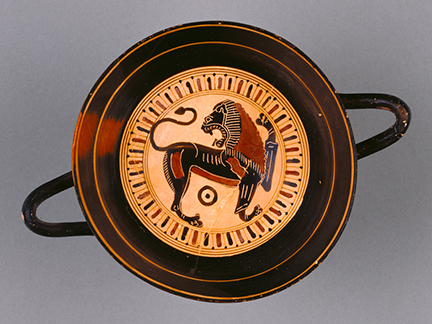 Black-Figure Kylix, Sparta, Attributed to Hunt Painter, c. 565-530 BC